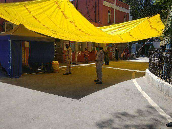 Coronavirus testing at Gandhi Nagar hospital in Jammu