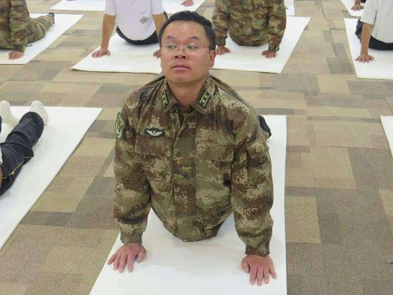Chinese army official in India for yoga in Ladakh