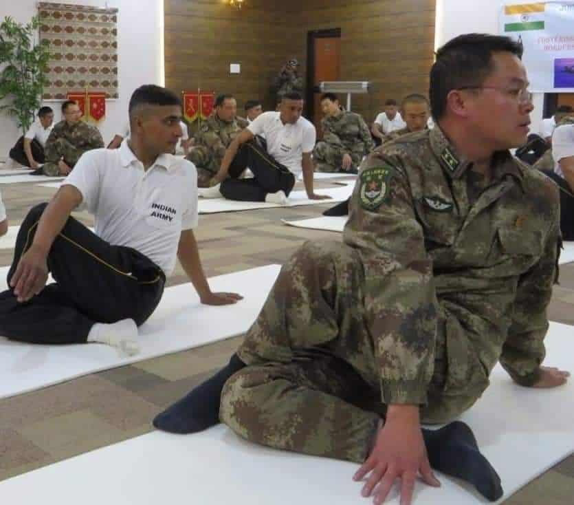 International Yoga Day of last year where Chinese army personnel had come to India in Ladakh