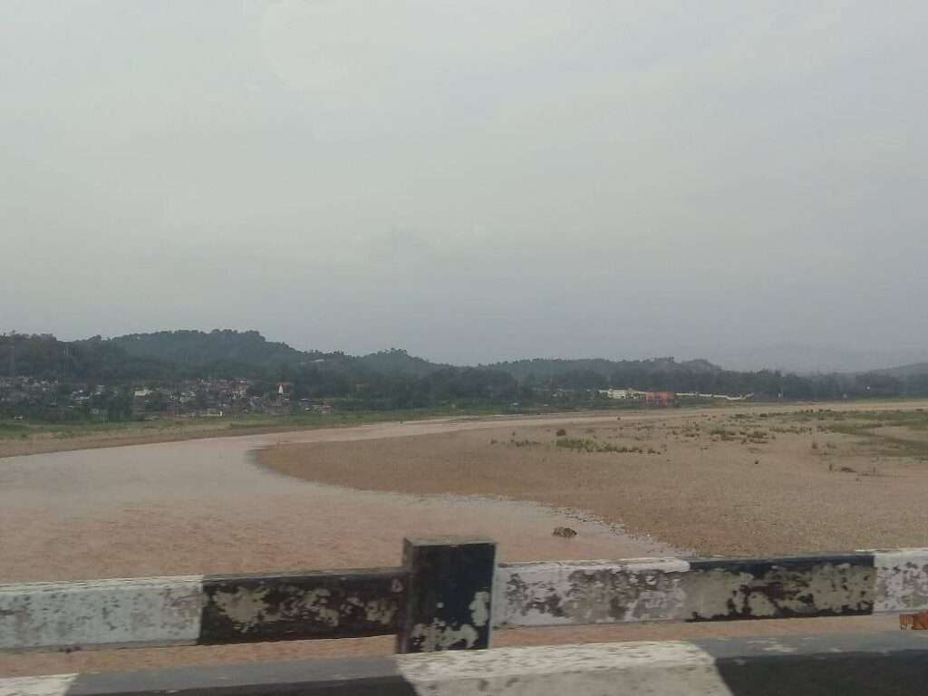 Tawi river in Jammu from sidhra road