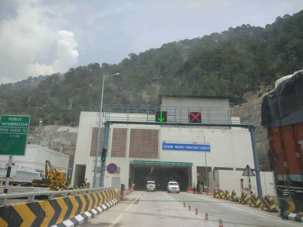 Chenani-Nashri tunnel in Jammu. This is asia longest tunnel