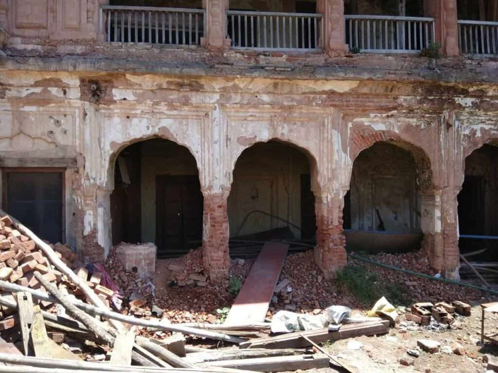 Poonch fort that is being restored