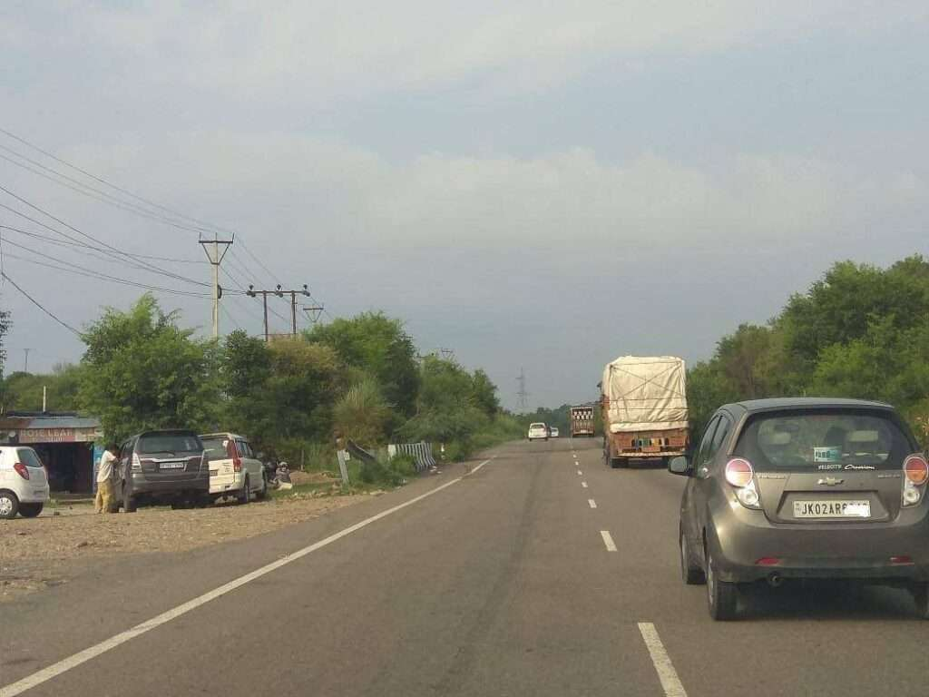 Sidhra road in Jammu