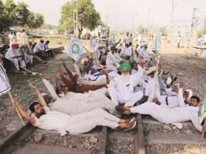 rail roko by farmers in punjab