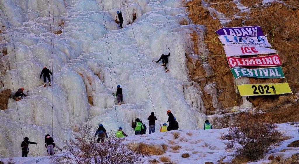 Ice climbing ladakh