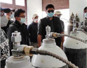 CEC leh MP ladakh visit oxygen plants