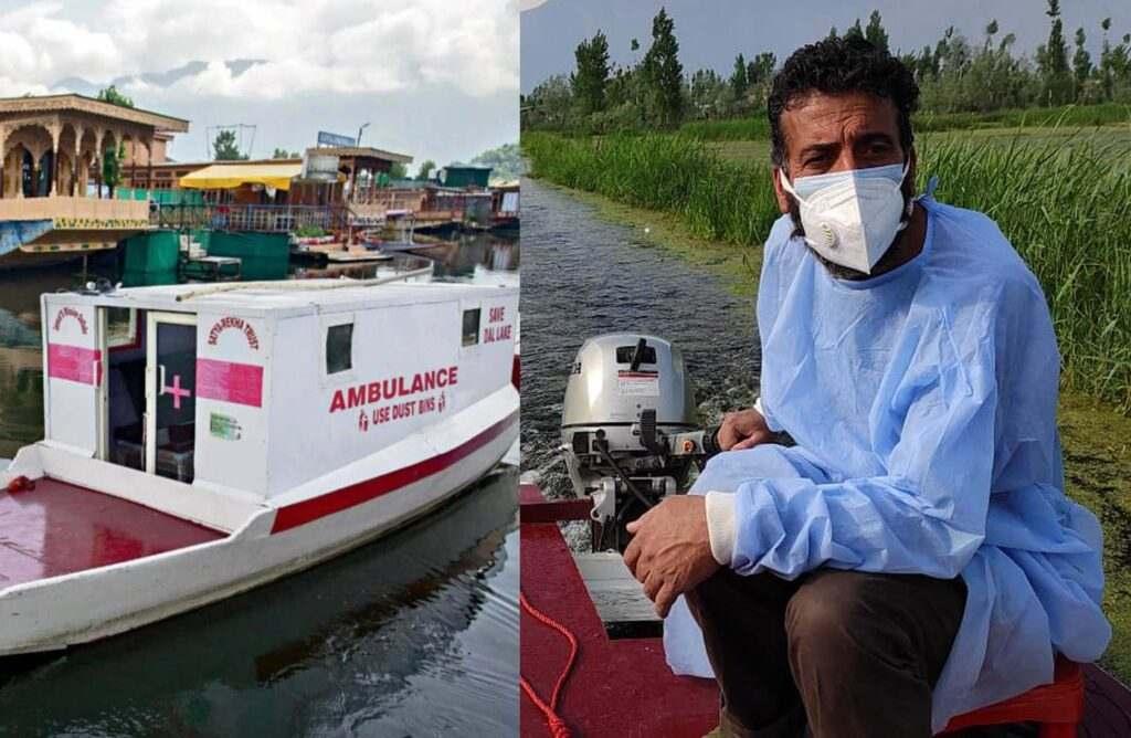 एम्बुलेंस बनाने वाले कश्मीरी नाविक